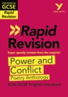Image for Power and conflict AQA poetry anthology