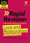 Image for Love and relationships  : AQA poetry anthology