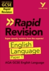 Image for York Notes for AQA GCSE (9-1) Rapid Revision: AQA English Language Paper 1