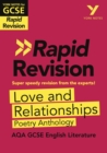 Image for Love and relationships: AQA poetry anthology