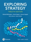 Image for Exploring Strategy, Text and Cases, 12th Edition