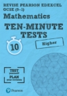 Image for Mathematics ten-minute testsHigher