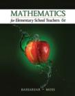 Image for Mathematics for elementary school teachers