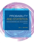 Image for Probability and statistics for engineering and the sciences