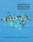Image for Statistics for the behavioral sciences