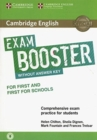 Image for Cambridge English exam booster for first and first for schools  : without answer key, with audio