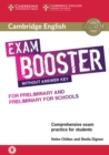 Image for Cambridge English exam booster for preliminary and preliminary for schools without answer key with audio  : comprehensive exam practice for students