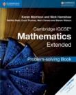 Image for Cambridge IGCSE mathematics extended problem-solving book