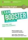 Image for Cambridge English exam booster for first and first for schools  : with answer key, with audio