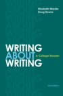 Image for WRITING ABOUT WRITING