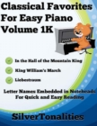 Image for Classical Favorites for Easy Piano Volume 1 K