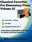 Image for Classical Favorites for Elementary Piano Volume 1 C