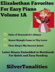 Image for Elizabethan Favorites for Easy Piano Volume 1 A