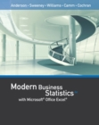 Image for Modern Business Statistics with Microsoft (R)Office Excel (R) (with XLSTAT Education Edition Printed Access (R)Card)