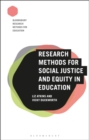 Image for Research methods for social justice and equity in education