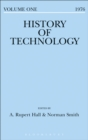 Image for History of Technology. : Volume 1