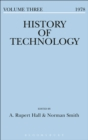 Image for History of Technology Volume 3