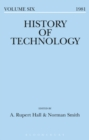 Image for History of Technology Volume 6