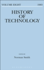 Image for History of Technology Volume 8
