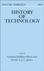 Image for History of technology. : Volume 13, 1991