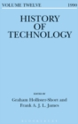 Image for History of technology. : Volume 12