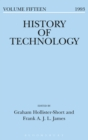 Image for History of technology. : Volume 15, 1993