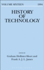 Image for History of technology. : Volume 16, 1994