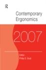 Image for Contemporary ergonomics 2007