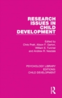 Image for Research issues in child development : 11