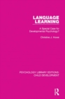 Image for Language learning: a special case for developmental psychology?