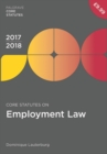Image for Core statutes on employment law 2017-18