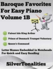 Image for Baroque Favorites for Easy Piano Volume 1 B