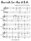 Image for Hurrah for the U S A - Easiest Piano Sheet Music for Beginner Pianists