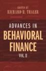 Image for Advances in behavioral finance