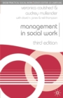 Image for Management in social work