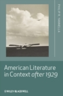 Image for American literature in context after 1929
