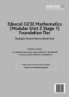 Image for Edexcel GCSE Maths: Modular Foundation Multiple Choice