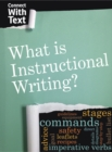 Image for What is instructional writing?