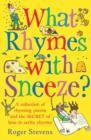 Image for What rhymes with sneeze?