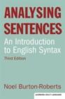 Image for Analysing sentences