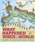 Image for What happened when in the world  : history as you've never seen it before