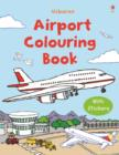 Image for First Colouring Book with stickers : Airport