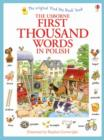 Image for The Usborne first thousand words in Polish