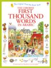 Image for The Usborne first thousand words in Arabic