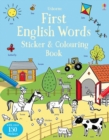 Image for First English Words Sticker and Colouring Book