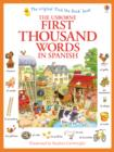 Image for The Usborne first thousand words in Spanish