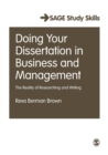 Image for Doing your dissertation in business and management  : the reality of researching and writing