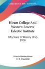 Image for HIRAM COLLEGE AND WESTERN RESERVE ECLECT