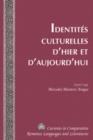 Image for Identites Culturelles d'Hier et d'Aujourd'hui