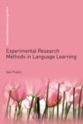 Image for Experimental research methods in language learning